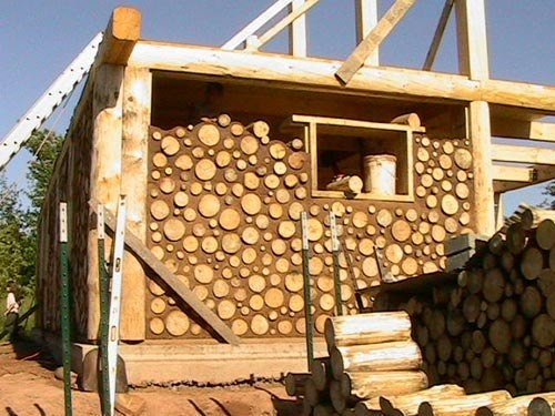 Дома из дров и глины