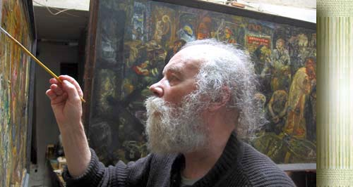 the Russian sorrowful artist Gennady Dobrov