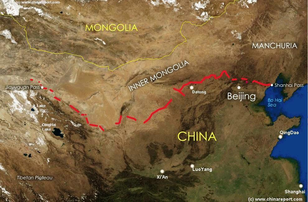 так где проходит великая китайская стена станции метро Речной