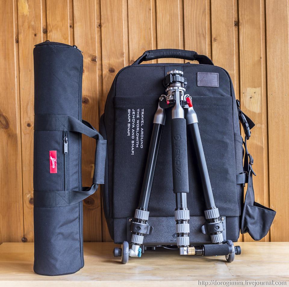 Фото рюкзак со штативом