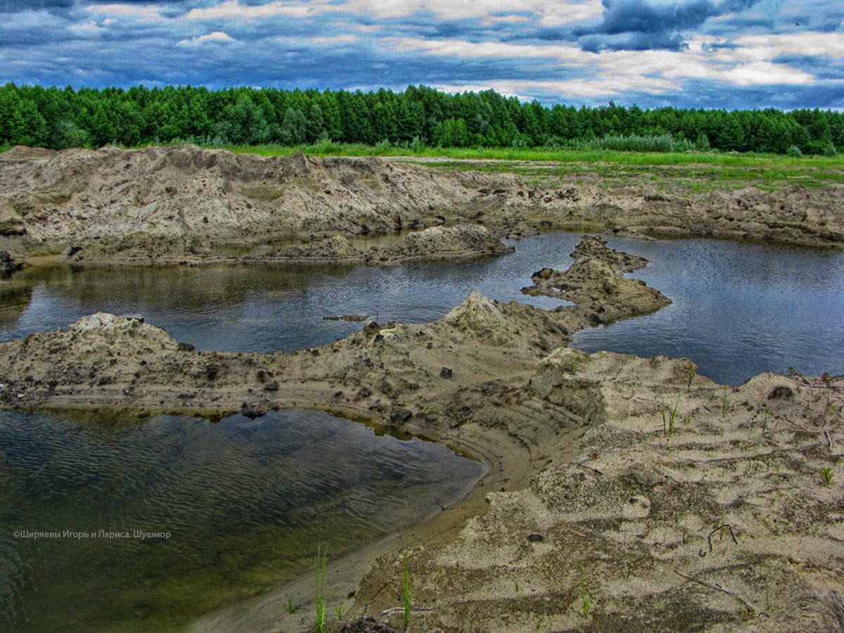 поселок Керва, озеро Святое